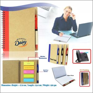 Eco Friendly Notebook With Ball Pen- NIPCH - 815