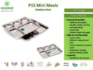 Coconut P15 Mini Meals Stainless Steel