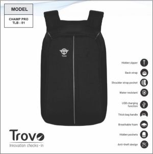 Trovo Anti Theft Laptop Bagpack Champ Pro TLB-81-TLB-81