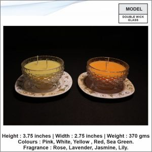 Double Wick Glass Candle-22
