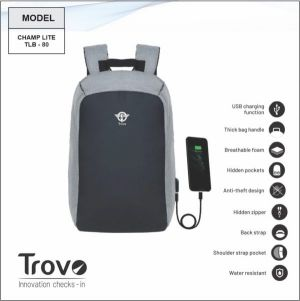 Trovo Anti Theft Laptop Bagpack Champ Lite TLB-80-TLB-80