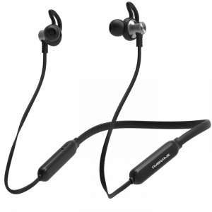 Ambrane ANB-83 Pro Wireless Bluetooth Earphones with Hi-fi Stereo Sound, Magnetic Clasps and Lightweight Design (Black)