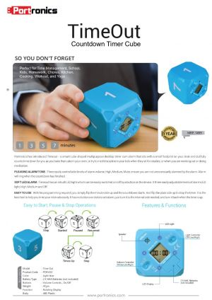 Portronics TimeOut -Countdown Timer Cube