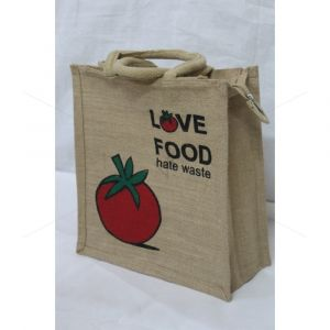 Jute TKJP 4- MULTI UTILITY LUNCH BAG  WITH ZIPPER (12.5 X 5 X 13.5 INCHES)