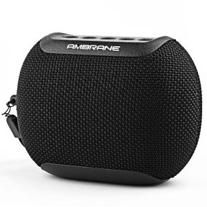Ambrane BT-47 5 Watt Portable Bluetooth Speaker with Inbuilt Mic, SD Card & AUX-In Ports and IPX6 Water Resistant Feature (Black)