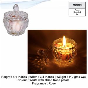 Rose Scented Jar Candle-3