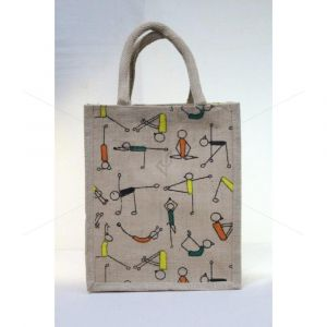 Jute TKJP 5 - MULTI UTILITY LUNCH BAG WITH ZIPPER (9 X 5 X 12 INCHES)