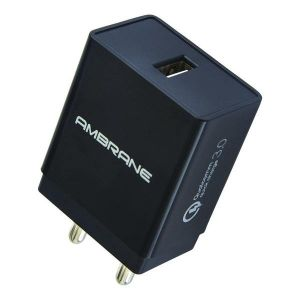 Ambrane AQC-56 Quick Charge 3.0 Enabled Wall Charger (Qualcomn Certified)