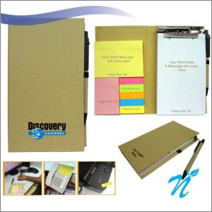 Eco Sticky Note Pad with Ball Pen- NIPCH - 803