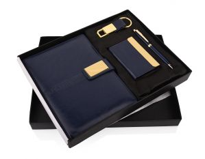 Blue Saffire 28 (4 in 1) -  Pen,Diary, Card Holder & Keychain