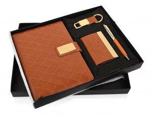 Brown Cross 29 (4 in 1) -  Pen,Diary, Card Holder & Keychain