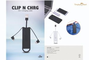 Clip N Chrg - 3-in-1 Charging Cable with Carabner