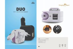 Duo - 2 in 1 Car and Home Charger with 2 USB Ports
