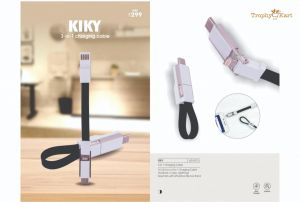 Kiky - 3-in-1 Charging Cable (Keychain)