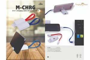 M-Chrg - 3-in-1 Charging Cable with Mobile Holder