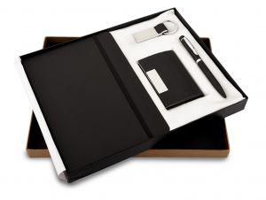 Montage 26 (4 in Black) - Pen,Diary, Card Holder & Keychain