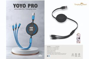 Yoyo Pro - 3-in-1 Charging Retracting Cable