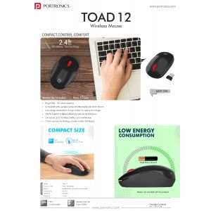 Portronics Toad 12-Wireless Optical Mouse