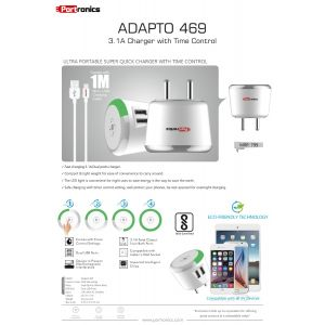 Portronics ADAPTO 4693.1A Charger with Time Control