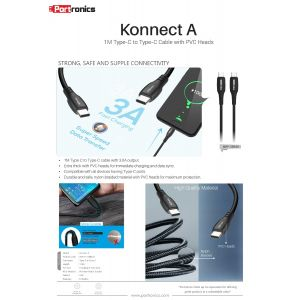 Portronics Konnect A Type C to Type C