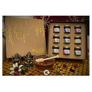 Diwali Gift Box with 9 Finest Varieties of Honey (55 Gms x 9 pcs)