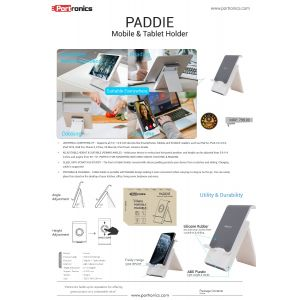 Portronics Paddie-Perfect Companion For Holding Phones and Tablets