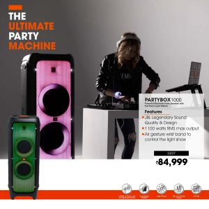 JBL-Party box1000 powerfull bluethooth party speaker full pannel light effects