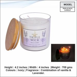 Triple Wick Candle- 24