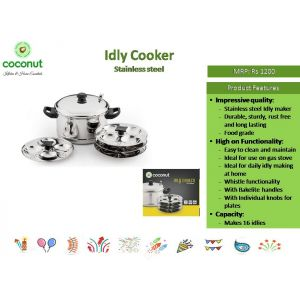 Coconut Idly Cooker