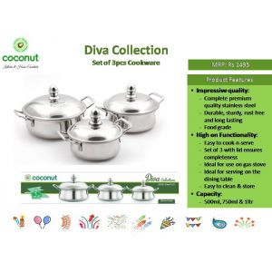 Coconut Diva Collection ( 3Pcs Cookware)