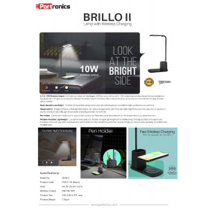 Portronics Brillo II-Lamp with Wireless Charging