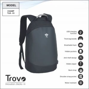 Trovo Anti Theft Laptop Bagpack Champ TLB-83- TLB-83