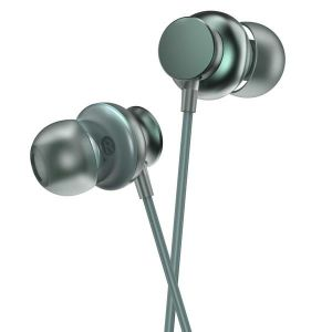 Ambrane Stringz 38 Wired Earphones with Metal Connector, In-Line Mic and Single Button Operations (Green)