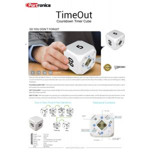 Portronics TimeOut Max-60-Countdown Timer Cube