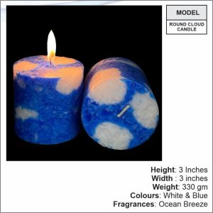 Round Cloud Candle- 13