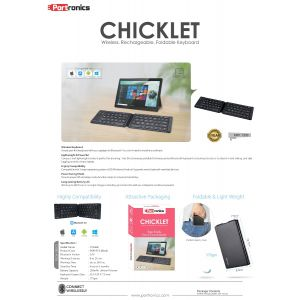 Portronics Chicklet-Wireless  Rechargeable Foldable Keyboard