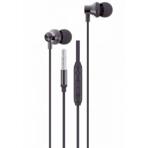Ambrane Stringz 47 Wired Earphones with High Bass Audio Quality, In-Line Mic and Single Button & Volume Slider Controller (Black)