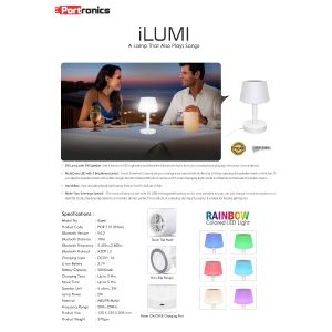 Portronics iLUMI-A Lamp That Also Plays Songs
