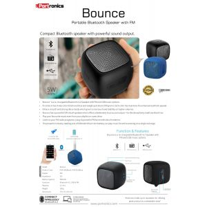 Portronics Bounce-Portable Bluetooth Speaker with FM