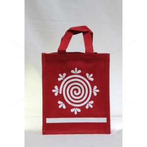 Jute TKJP 6 -  BAGS  WITH ZIPPER (9.5 X 6 X 11 INCHES)