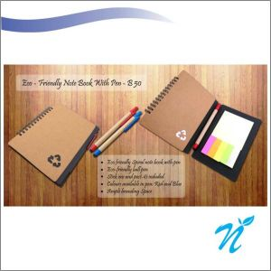ECO NOTEBOOK WITH PEN AND STICKY PADS-NIBGB - 50