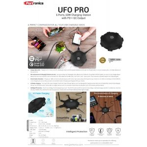 Portronics UFO Pro - Home Charger-Multi-Port Charging Station