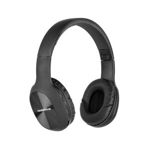 Ambrane WH-65 Over The Ear Wireless Headphones With Mic, Wireless FM, Aux & SD Card Support (Black)