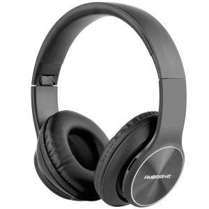 Ambrane WH-74 Over The Ear Wireless Headphones With Mic & FM (Black)