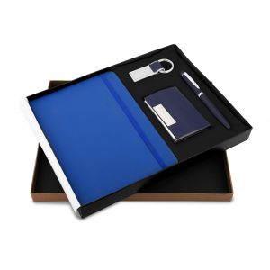 Montage 25 (4 in Blue) - Pen,Diary, Card Holder & Keychain