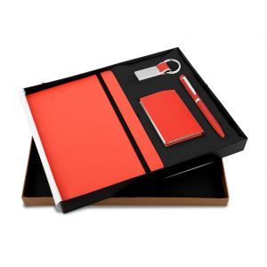 Montage 27 (4 in Red) - Pen,Diary, Card Holder & Keychain