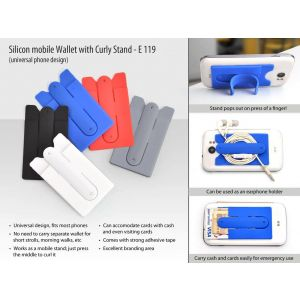 Power Plus Silicon Mobile Wallet With Curly Stand