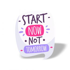 Start Now not Tomorrow Magnet