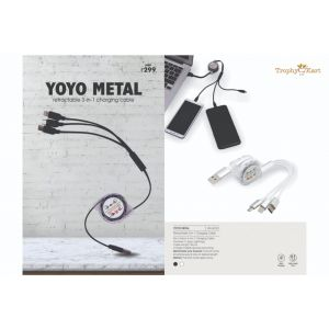 Yoyo M - 3-in-1 Charging Retracting Cable